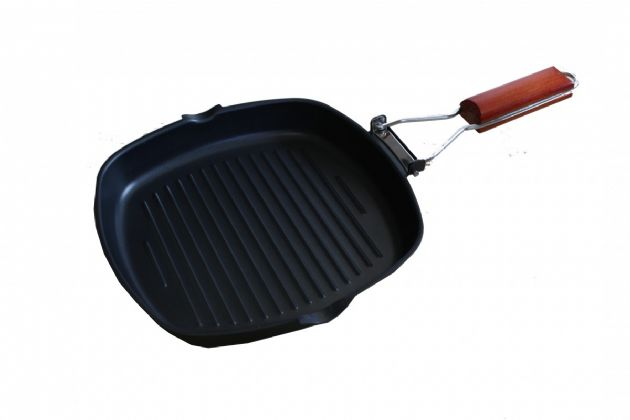 SunnCamp Griddle Pan Compact Folding Handle for Caravan Camping Campervan, Camping Cooking Accessories - Grasshopper Leisure